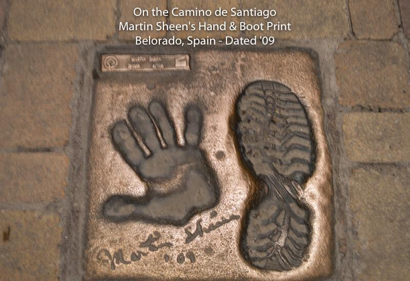 Camino de Santiago - Martin Sheen's Hand & Boot Print