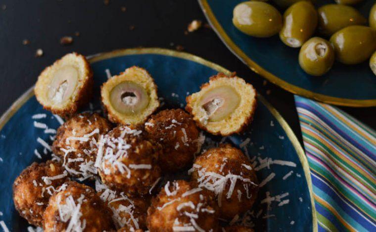 Fried Stuffed Olives with Aioli