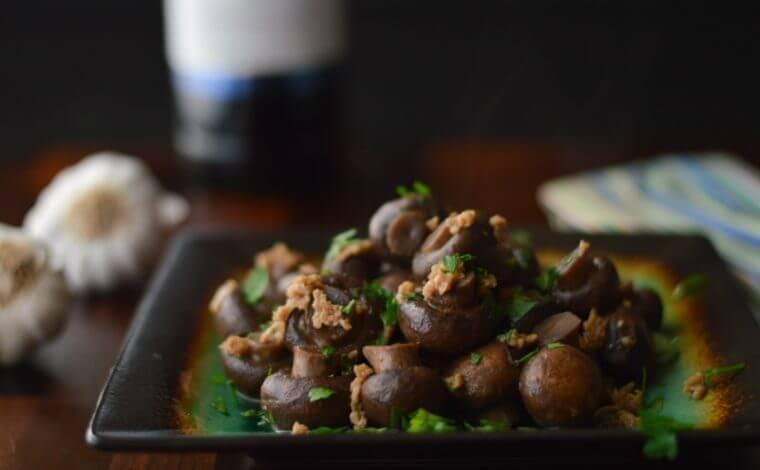 Sautéed Mushrooms in Wine Sauce