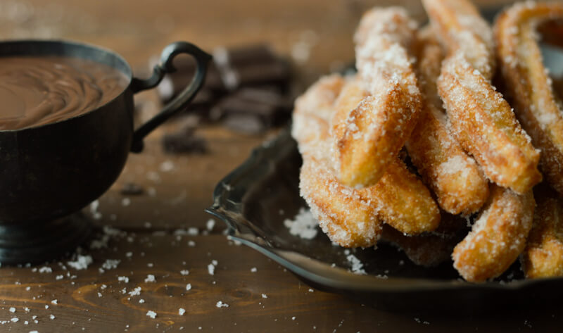 Churros and Spanish Hot Chocolate