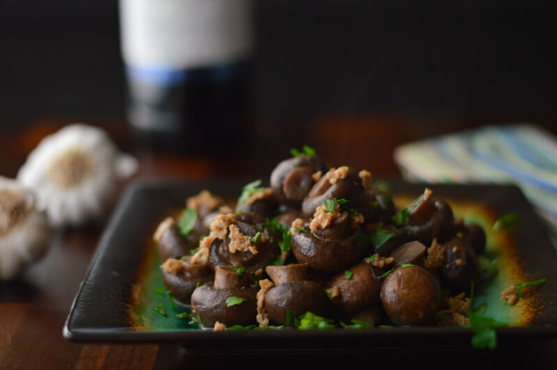 Sautéed Mushrooms in Wine Sauce