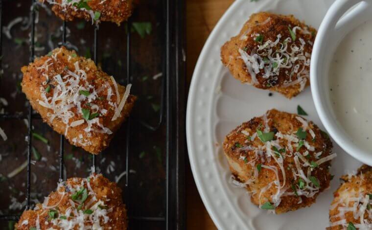 Crispy Parmesan Chicken Bites