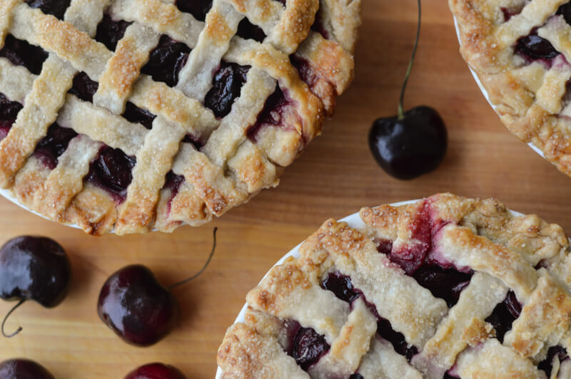 Sweet Bing Cherry Pie