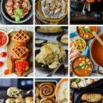 A collage of main dish comfort food dinners.