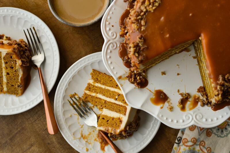 Salted Caramel Pumpkin Cake