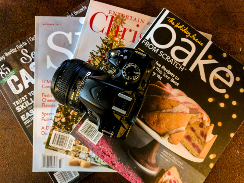 Food Magazines with Camera