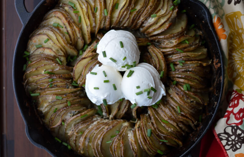 Hasselback Butter Potato Ring
