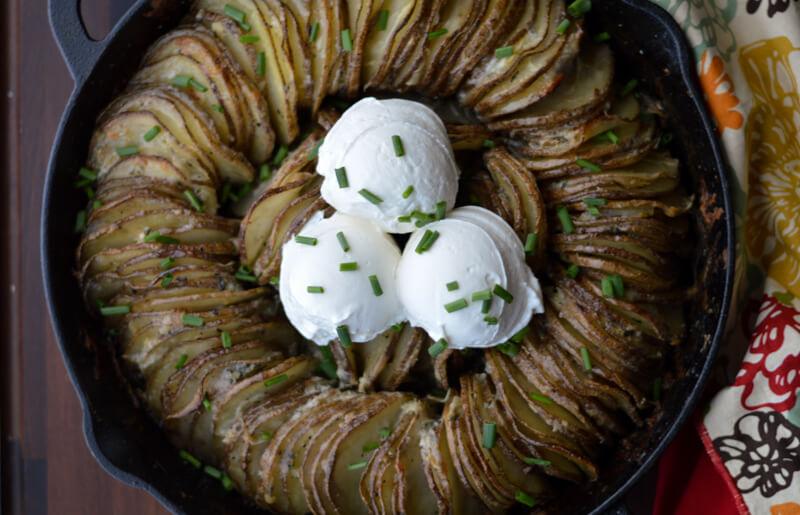 Hasselback Butter Potato Ring