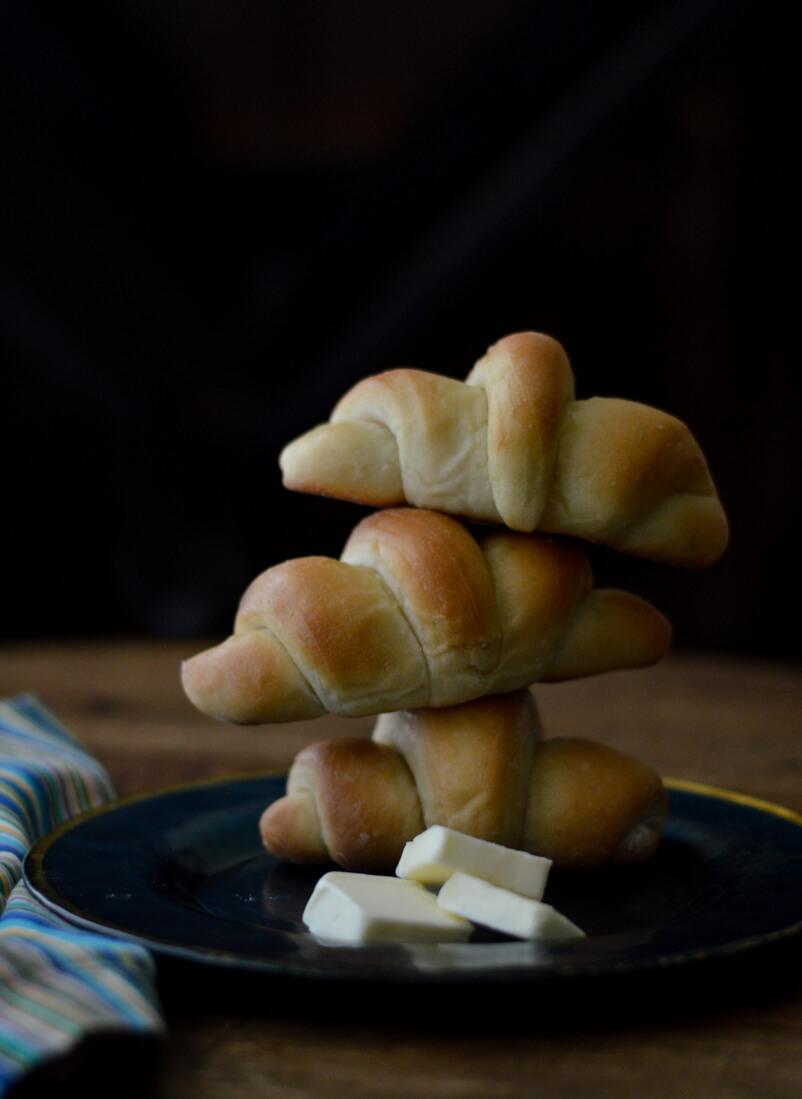 Homemade Buttery Bread Rolls