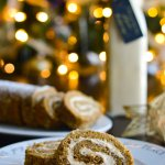 Salted Caramel Pumpkin Roll sliced