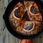 Pan Seared Salmon in a Blood Orange Sauce