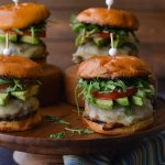 Juicy Turkey Burgers with Avocado Slices