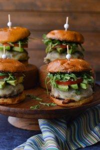 Juicy Turkey Burgers with Avocado Slices