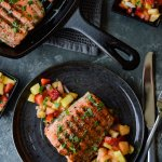 Pan Seared Sockeye Salmon with Fruit Salsa