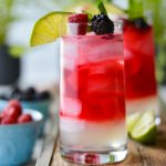 Glasses of Berry Infused White Rum Mojito