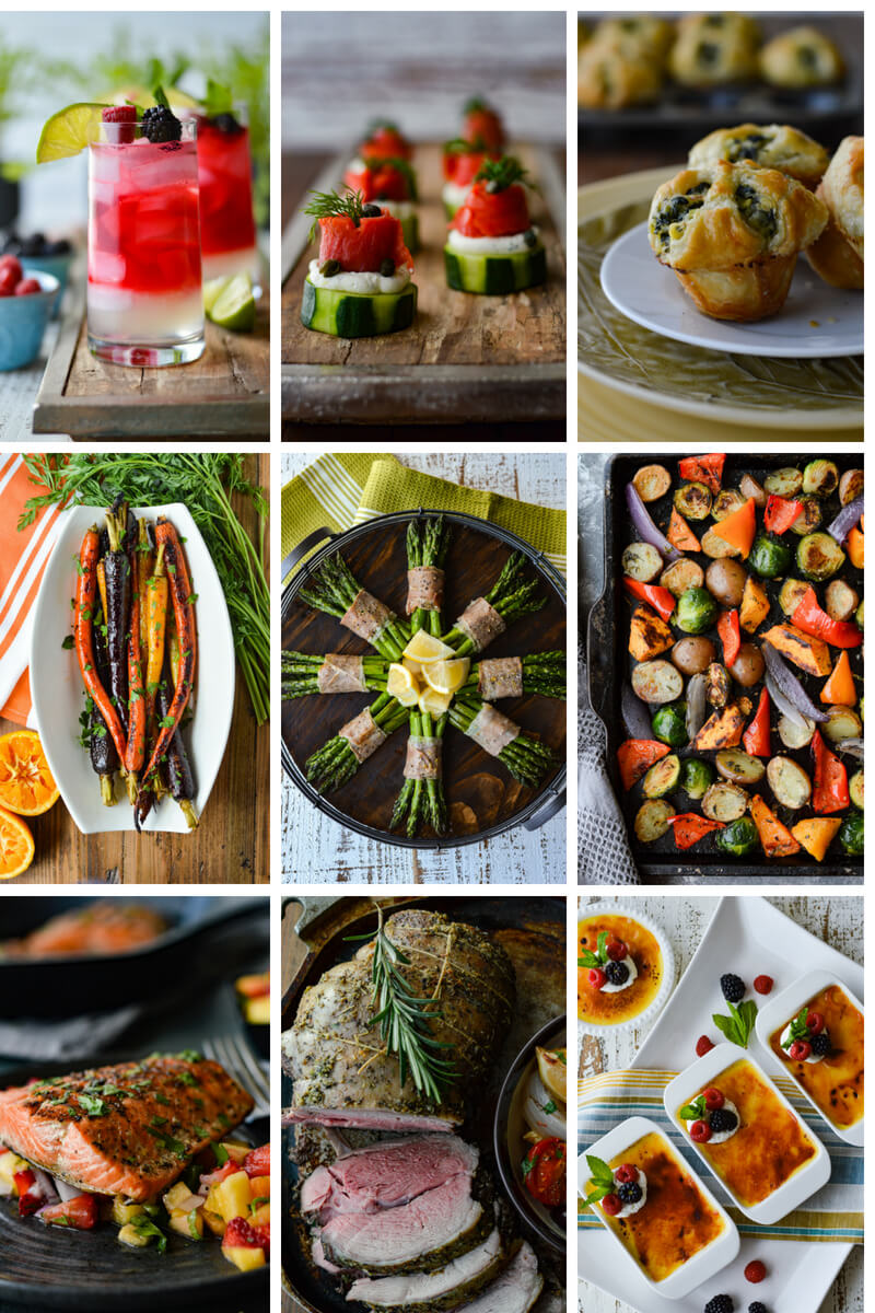 Easy Dinner Party Recipes That Will Impress your Friends - Nine Recipes in a Collage