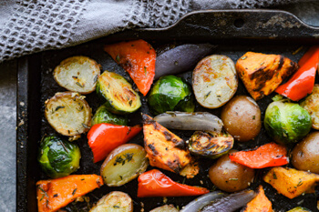 Easy Dinner Party Recipes That Will Impress your Friends - Perfectly Roasted Veggies with Garlic and Herbs