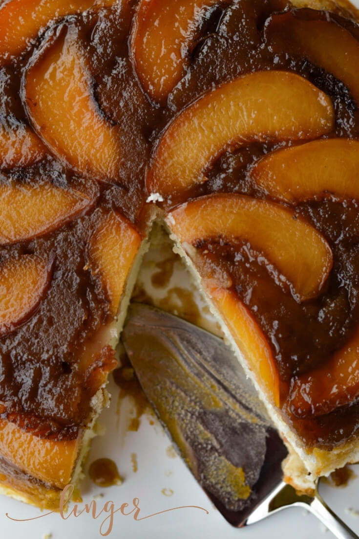 You'll love baking this easy fresh peach upside-down cake. It's a nice twist on a pineapple classic. This