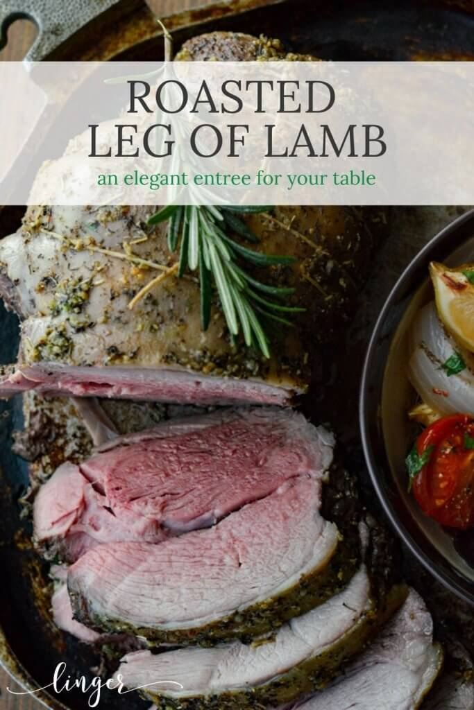 Roasted Leg of Lamb with Tomatoes and Kalamata Olives